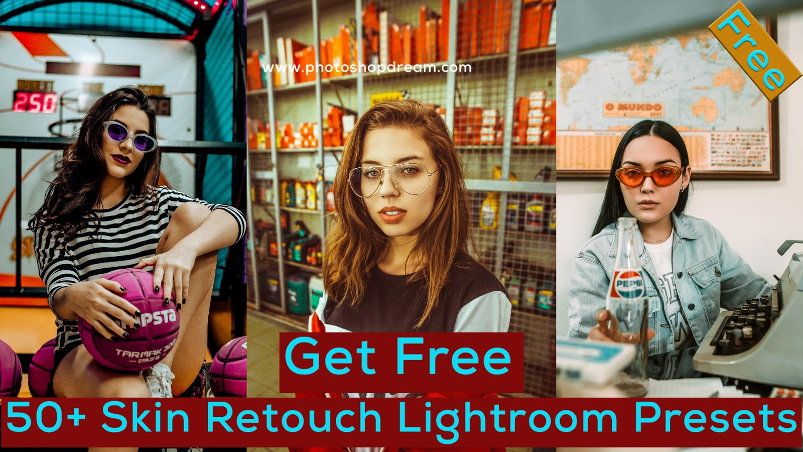 Get Free 50+ Skin Retouch Lightroom Presets - photoshop dream