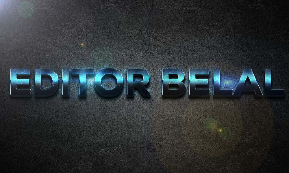 3D Extra Light Text Effects PSD Free Download