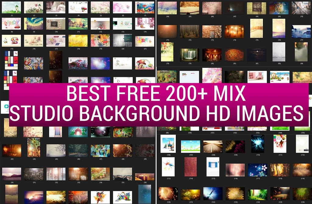 Best Free 200+ Mix Studio Background HD Images VOL 2