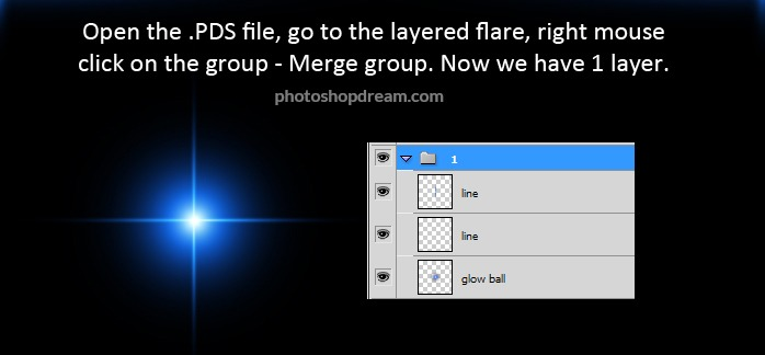 How to change color in Optical Lens Flares For Photoshop