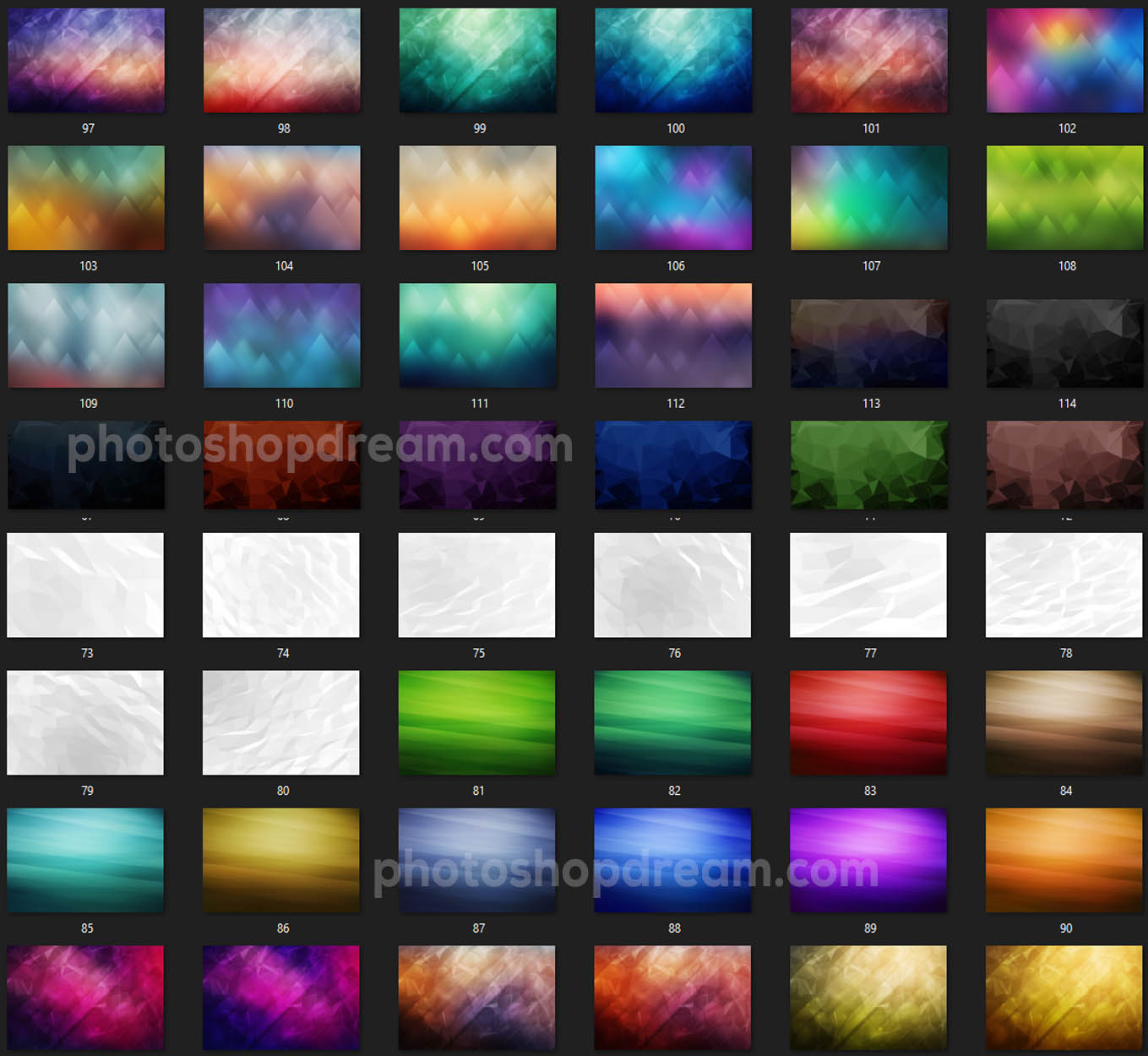300 Best Geometric & Polygon Backgrounds Bundle Free Download