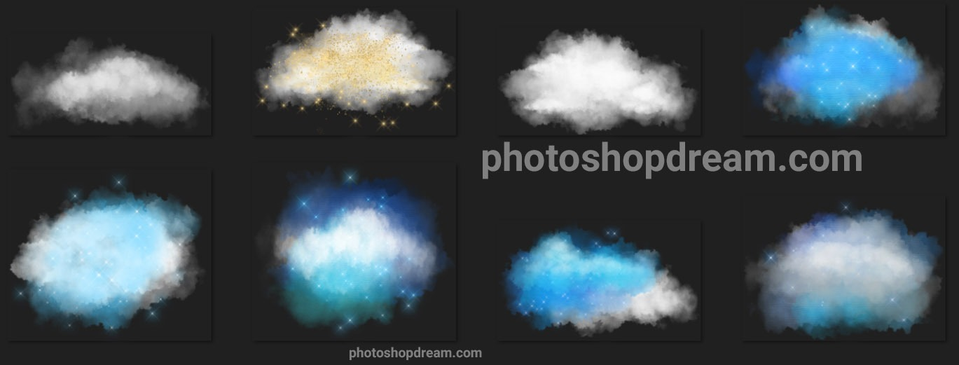 Cloud And Star Photo Overlays Free Download