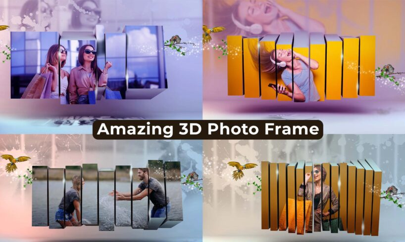 3D Photo Frame Photoshop PSD Template Free Download