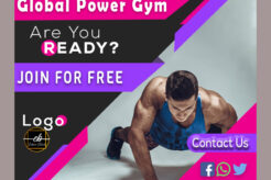 Best Free Social Media Gym Banners PSD Template